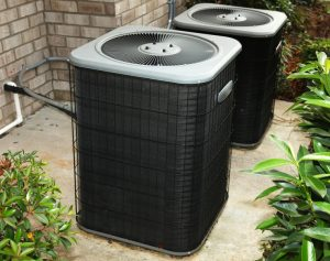 two outdoor units of an air conditioner