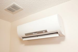ductless blower up on a wall