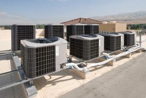 rooftop units on commercial building